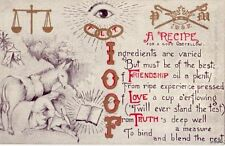 I.O.O.F. THREE LINK CHAIN FRIENDSHIP LOVE TRUTH A RECIPE FOR A GOOD ODDFELLOW