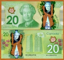 Bank of Canada, $20, 2012, Polymer, Pick 108, QEII, UNC