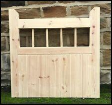 garden gate handmade wooden cottage flat top pedestrian gate hardwood spindle