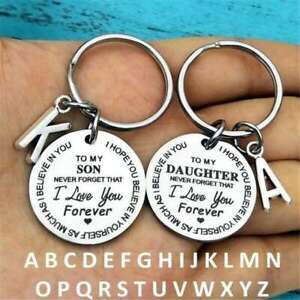 Keyrings Gift Inspirational Idea for Son/Daughter Keychain Best Father Mother