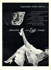 Esge Strümpfe St. Gallen Schweiz XL Reklame 1956 Saupe Gretler Werbung Nylons +