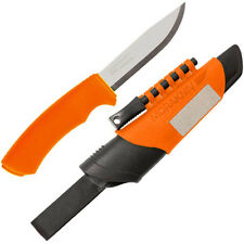 Mora Knives Bushcraft Fixed Blade Knife Orange Handle Plain Edge 12051