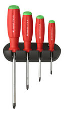 PB Swiss Tools PB 8243 Screwdriver Set PoziDriv with Wall Rack SwissGrip PZ0-PZ3