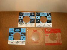 5 X ORIGINAL FACTORY RECORDS SLEEVE 45 RPM - MERCURY RECORDS (87)