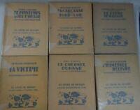 6 livres illustrés par L. William GRAUX Le LIVRE DE DEMAIN Fayard Bois originaux