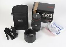 Sigma 70-300 APO DG macro for Canon AF F4-5.6 digital lens boxed case lens hood