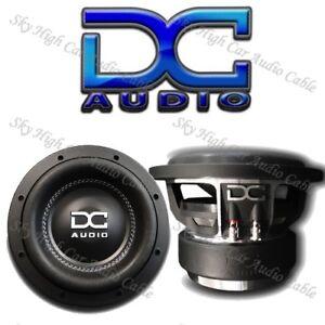"DC AUDIO M3 8"" Dual 4 ohm Dual Voice Coil Subwoofer 600 Watts RMS 1200 Max"