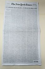 Memorial Wall Names Virus New York Times Newspaper May 24 2020 Sunday