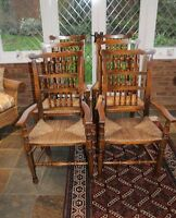 Oak Kitchen Chairs - Spindleback Dining Chair Set of 6
