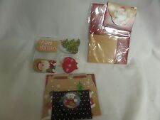 Lot Of Christmas Items Green Garland Gift Tags Envelope Gift Boxes