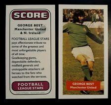 GEORGE BEST - Manchester United & Northern Ireland Score UK football trade card