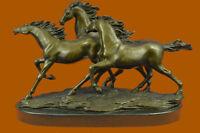 Vintage Bronze Horses Ornament Home Decor Sculpture Statue Gift Figure Figurine
