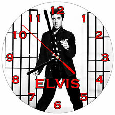 "8"" WALL CLOCK - ELVIS PRESLEY #SN1 Jailhouse Rock - Kitchen Office Bathroom Bar"