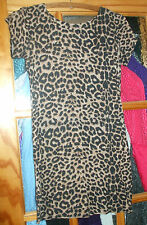 Nice Stretchy Missguided Ladies Leopard Print Dress - Used Good - Med/Large