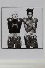 ANDY WARHOL and JEAN-MICHEL BASQUIAT,1985,  Kunst-Postkarte
