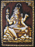 SHIVA meditation hinduism Wandbehang baumwolle Batik GOA Indien thangka 55 x 80