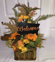 Fall Harvest Floral Arrangement Centerpiece Autumn Bouquet Table Decor