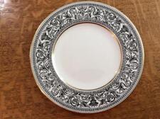 """Wedgwood Black Florentine bone china 8"""" salad plate green mark W4312"""