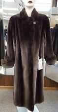 "CLEARANCE! Natural Phantom Letout Sheared Beaver 50"" Coat - size 14"