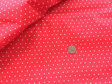 100 % COTTON SMALL WHITE POLKA DOTS ON FIRETRUCK RED  BY THE YARD QUILT FABRIC