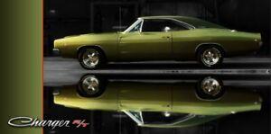 Dodge Charger Muscle Car Vinyl Garage Banner Sign 2 x 4' Vinyl Wall Art
