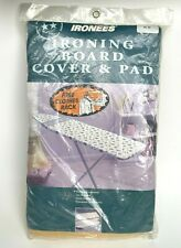 Vintage Ironees Ironing Board Cover and Pad Deluxe with Bonus Clothes Rack