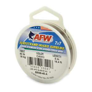 AFW Surfstrand Micro Supreme 49 Strand Wire Trace Leader