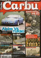 CARBURADOR 14 CARPETA 39p PEUGEOT 205 GTI, carpeta 11p ALPINE V6 GT & V6 TURBO