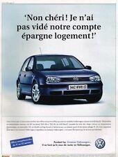 Publicité advertising 2003 VW Volkswagen Golf match