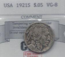 **1921S** USA, Five Cent, Buffalo Nickel,