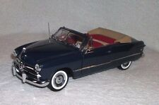 Franklin Mint 1949 Ford Convertible in Mirrored Display Case Blue and Tan 1:24
