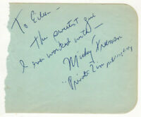 Mickey Freeman Cut Signature! Autograph Phil Silvers Sgt Bilko Private Zimmerman