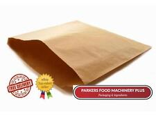 """PAPER BAGS-BROWN-PACK OF 1000-10 X 10"""" ideal for Butchers,Deli's,Markets,Bakery"""
