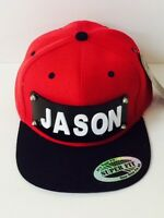 Personalized Custom Snapback Hat Six Panel Flat Bill Snap Back Hat Cap Red Hats