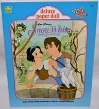 NEW-1991 GOLDEN BOOK-DISNEY-SNOW WHITE DELUXE PAPER DOLLS-2 DOLLS +40 FASHIONS