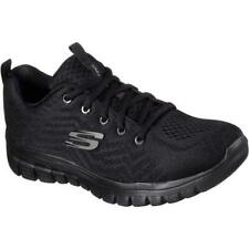 Skechers Graceful Get Connected Womens Black Running Trainers Shoes Size 4-8