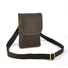 Men Women Vintage Genuine Leather Shoulder Cross Body Bag Fanny Belt Waist Purse