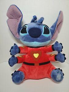 "Disney Store Lilo & Stitch Plush Red Alien Space Suit 4 Arms 16"" Stuffed Animal"