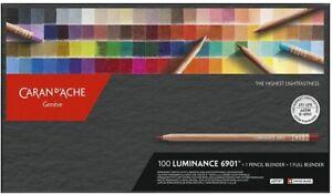 Caran d'Ache Luminance 6901 Professional Colour Pencils 100 Colours & 2 Blenders