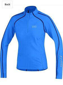 GORE BIKE WEAR Women's Size M CONTEST THERMO HALF ZIP CYCLING JERSEY Blue