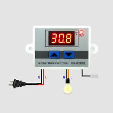 Digital Control Switch LED Temperature Controller Thermostat 220V 1500W Durable