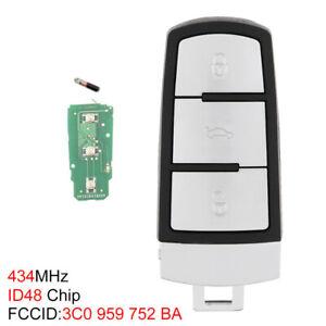 3Button Remote Key Fob ID48 Chip Fit for VW Passat B6 3C B7 Magotan CC 2006-2011