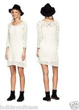 Taille 20 22 UK. femmes womans Sexy Crochet Tricot Doublé Robe Pull Blanc été