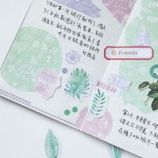 45 Pcs/lot Diary Kawaii Scrapbooking Diy Album Sticker Mint Diary Watercolor