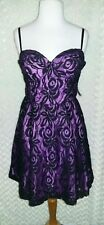 Guess Purple Black Lace Overlay Formal Prom Bridesmaid Dress sz 11 Juniors NWT