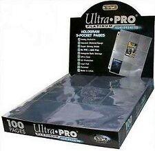 Boite platinum de 100 feuilles ultra pro à 9 cases pour classeur