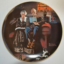 Norman Rockwell Decorative Collector Plate: Light Campaign Series Evening's Ease