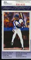 Darryl Strawberry 1990 Score Scoremasters Jsa Hand Signed Authentic Autographed