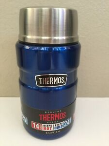 Genuine Thermos Brand Vacuum Insulated Stainless Double Wall Steel Food Jar 24oz