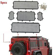 5PC Metall Fence Window Mesh Net Schutz für TRAXXAS 1/10 TRX-4 Auto Crawler Body